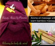 Bamboo massage with aroma oil-1