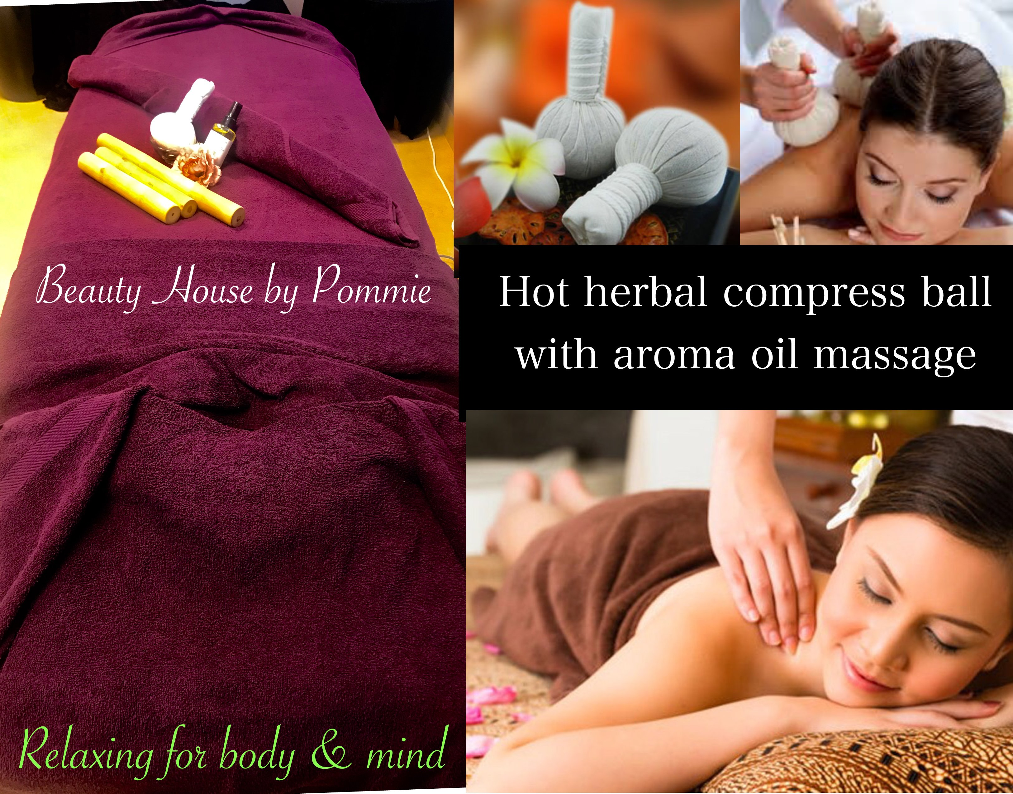 Hot herbal compress ball with oil massage-1